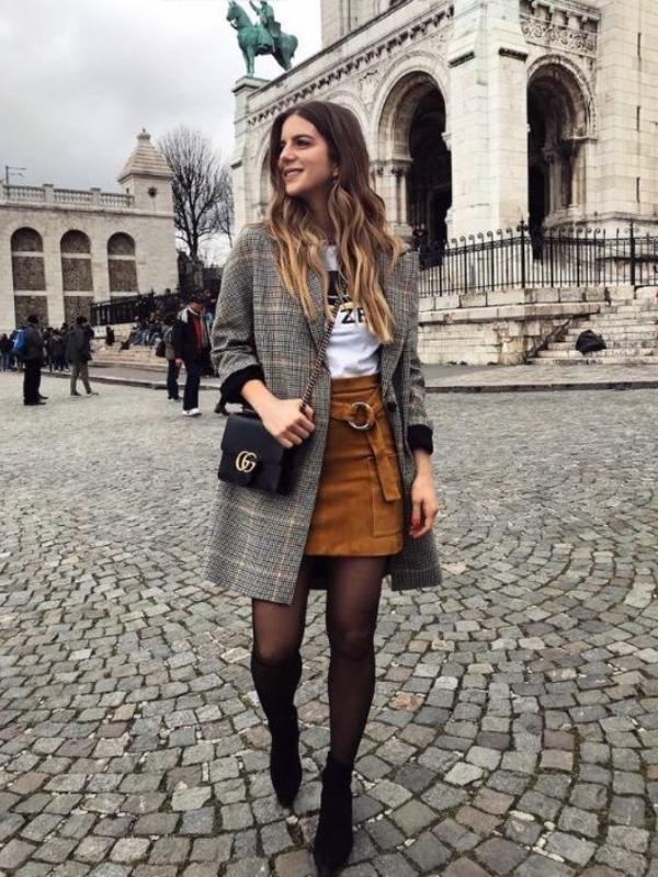 Stilski način nošenja mini suknje ove zime