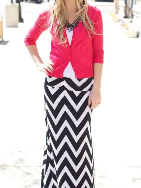 20 fantastičnih kombinacija sa suknjama chevron printa