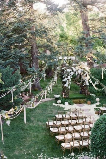 Predivne varijante dekora prostora za venčanje na otvorenom
