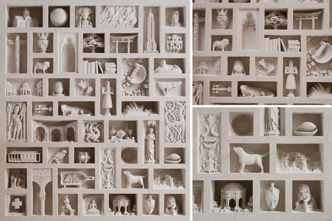Neverovatni arhitektonski objekti i skulpture uklesani u mermeru i kamenu