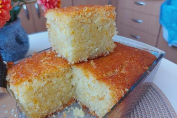 Bakina kuhinja - preliven kolač sa kokosom i pomorandžom