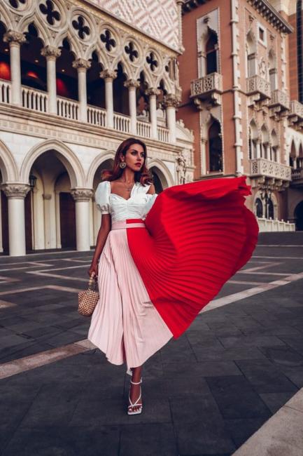 Color Block plisirane suknje apsolutni hit ovog proleća