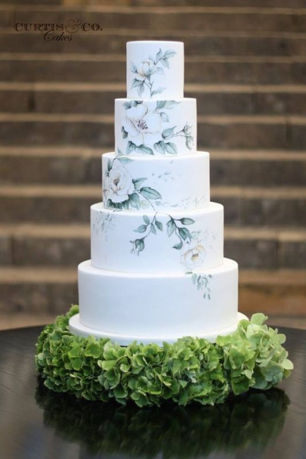 Ručno oslikane cvetne svadbene torte za vaš poseban dan